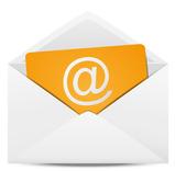 Set of paper Email envelopes
